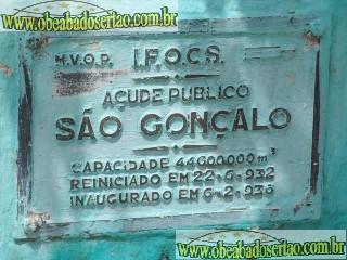 Mesmo com as chuvas na região açude de São Gonçalo se encontra com 30,3%